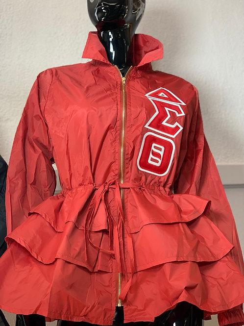 Peplum Line Jacket - ΔΣΘ red