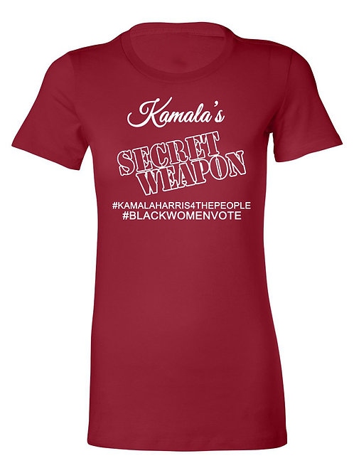 Kamala's Secret Weapon Tee-red