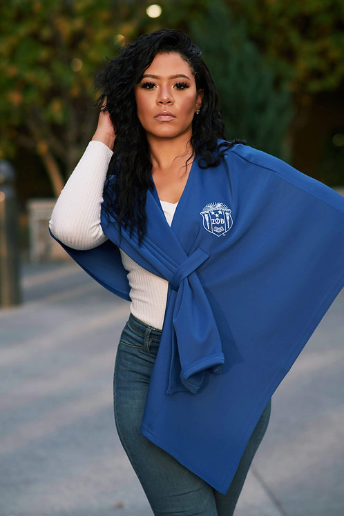 Zeta Couture Shawl - Blue