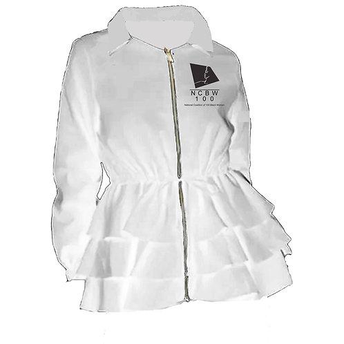 NCBW Peplum Line Jacket - WHITE