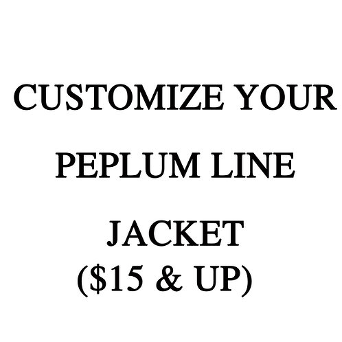 Customize Your Line Jacket -ADD ON