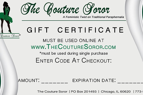 Links Couture Gift Certificate