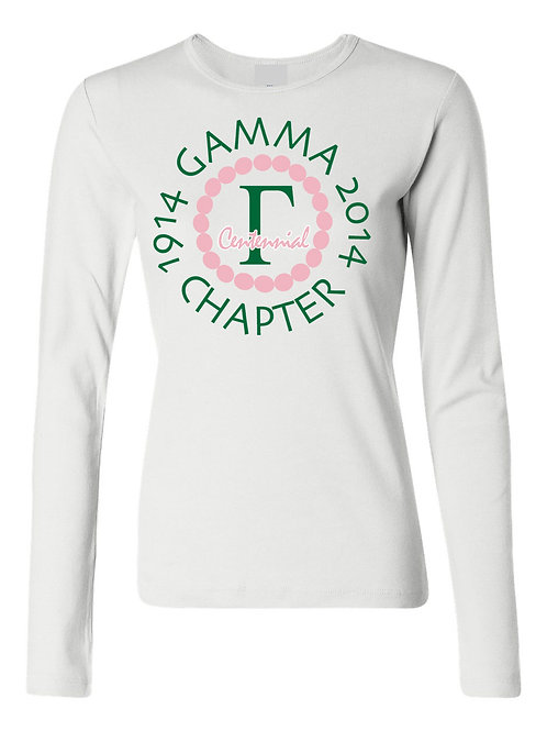 Gamma Chapter Centennial Tee-Long Sleeve