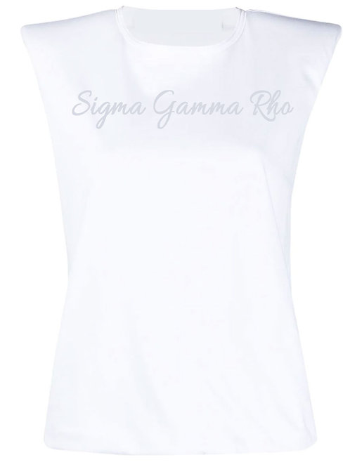 WHITE Structured Tee -SGRho