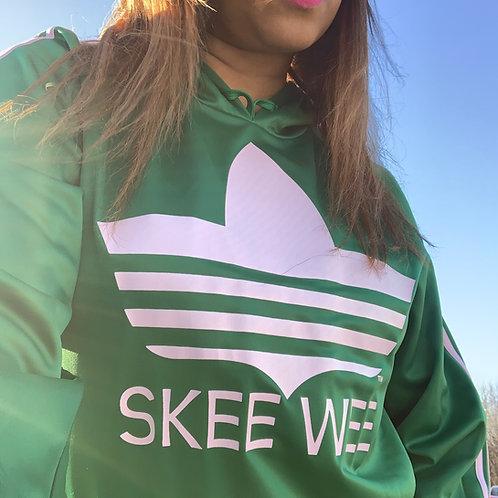 Skee Wee TM Track Hoodie - Green