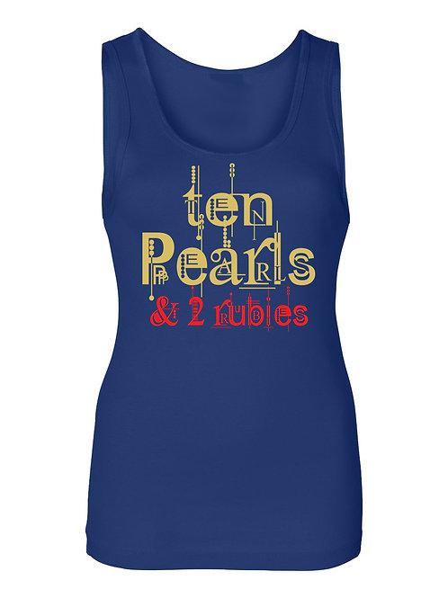 TEN PEARLS & 2 RUBIES TEE