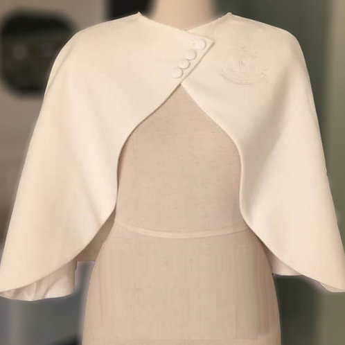AKA Vintage Capelet - WINTER WHITE