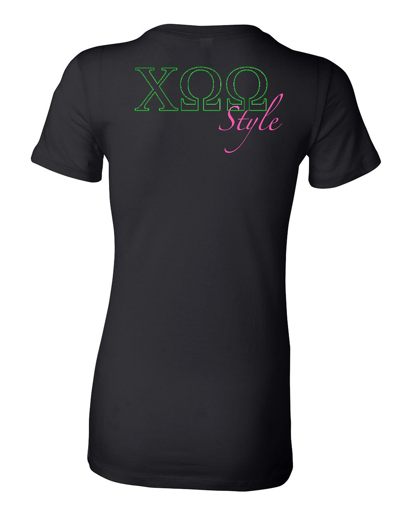 Design your own t-shirt greek - Coo Tux Tee Back