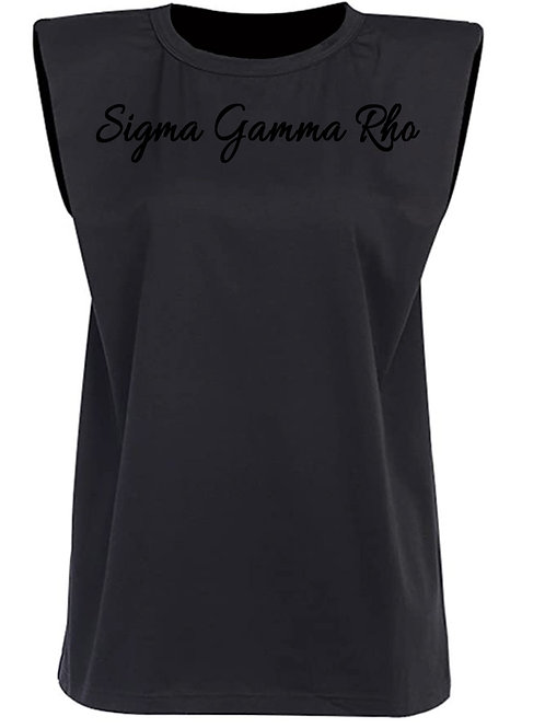 Black Structured Tee -SGRho