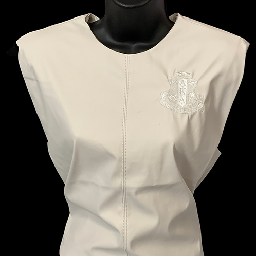 Ivory Structured PU Leather Top -AKA