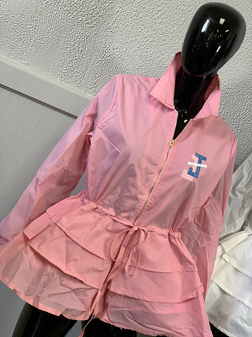 Peplum Line Jacket - JJ pink
