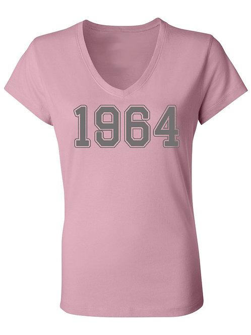 1964 Vneck Tee- PINK