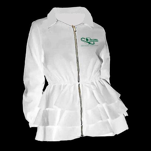 Peplum Line Jacket - LINKS white