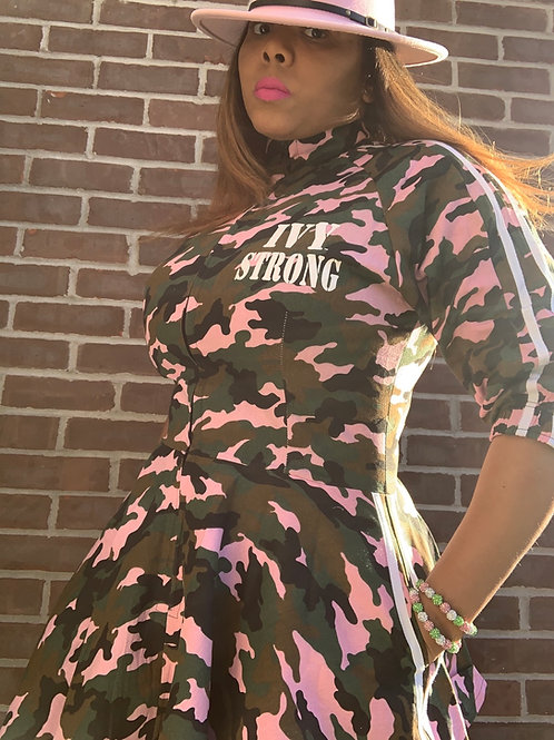 IVY STRONG CAMO TRACK DRESS