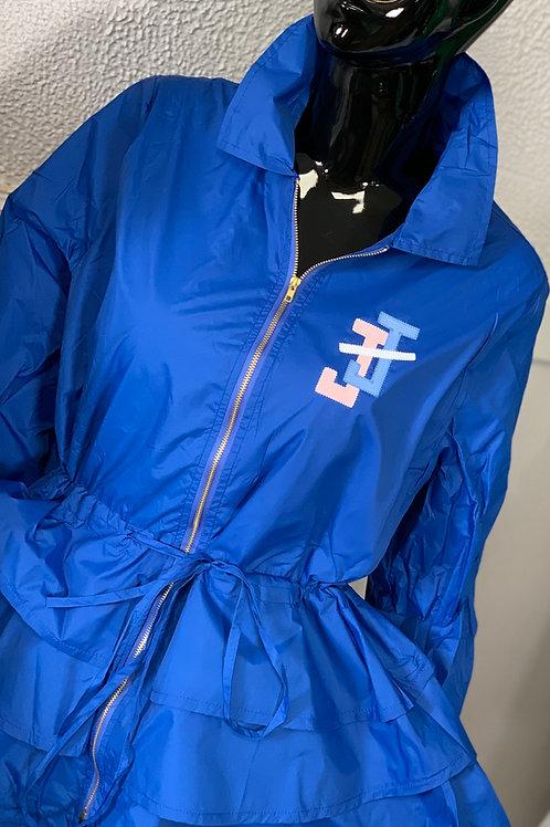 Peplum Line Jacket - JJ blue