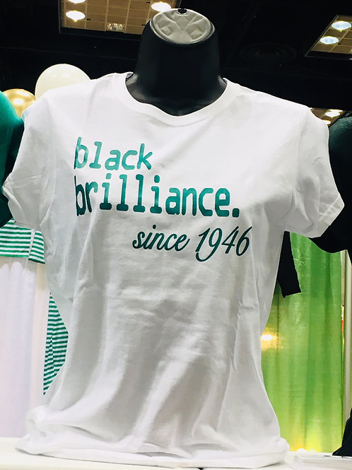 Black Brilliance since 1946 Tee