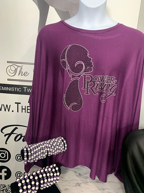 Power Rising Poncho-Purple