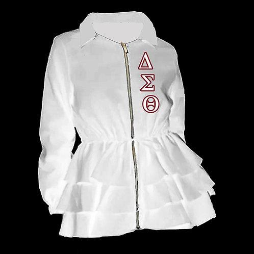 Peplum Line Jacket - ΔΣΘ white