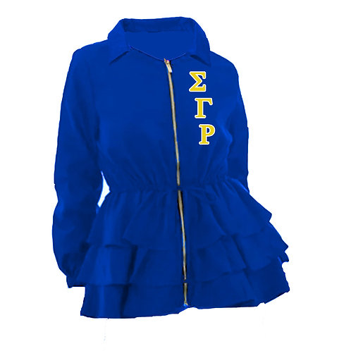 Peplum Line Jacket - ΣΓΡ blue PREORDER