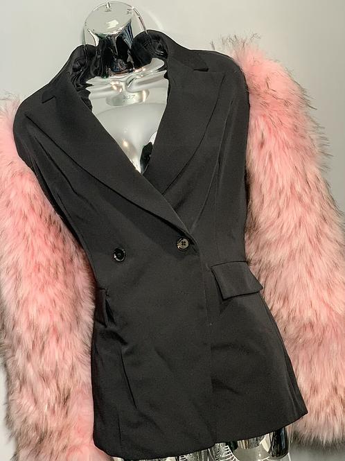PINK Fur Sleeve Blazer - preorder