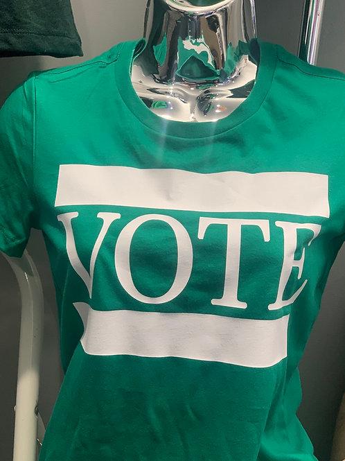 VOTE TEE - Emerald Green