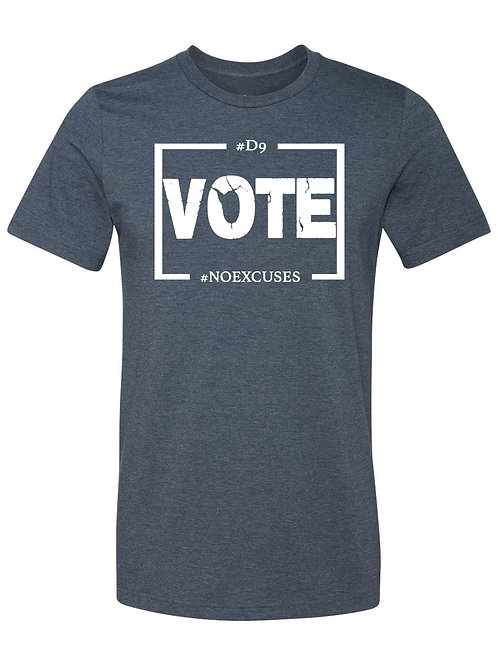 D9 Votes NO EXCUSES -Blue/White