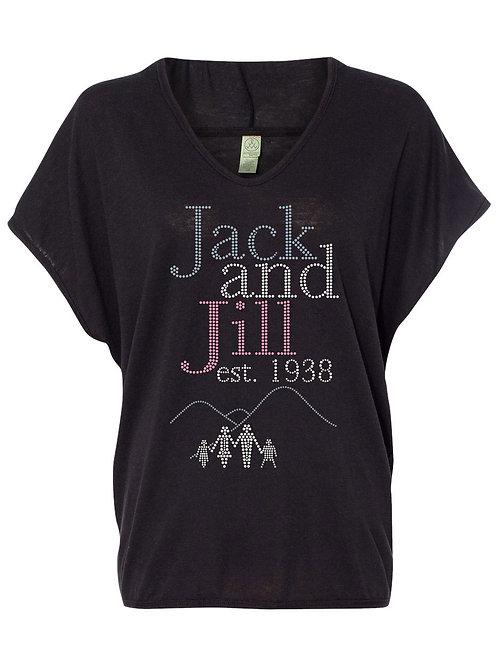 Jack and Jill Logo Hooded Poncho