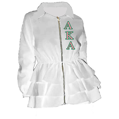 Peplum Line Jacket-AKA WHITE
