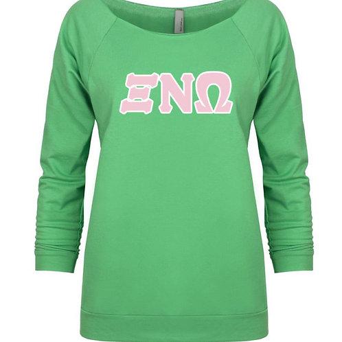 Xi Nu Omega 3/4 sleeve Sweatshirt