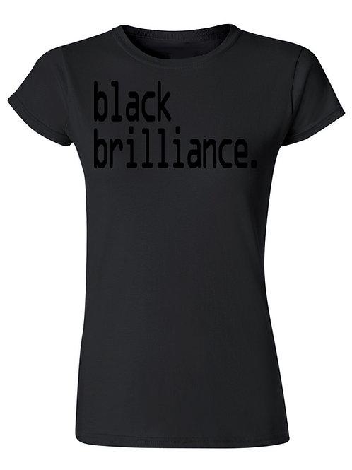 black brilliance tee- ALL BLACK - ladies