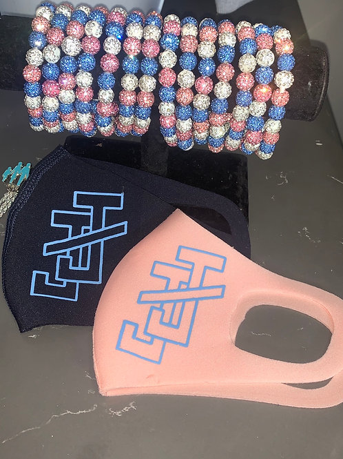 PINK & BLUE JJ Mask SET