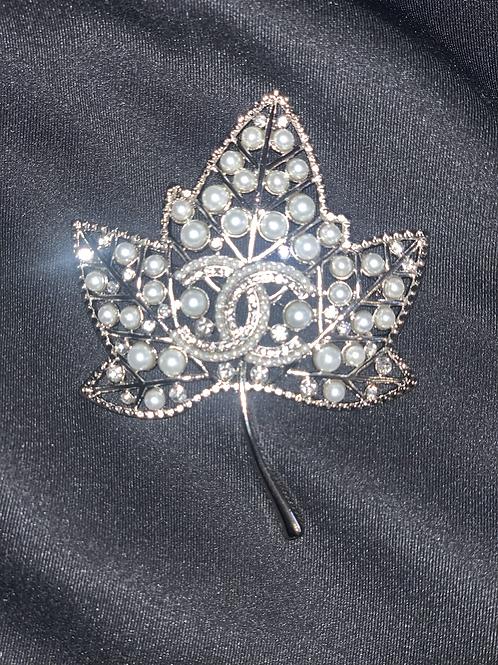 Luxury Leaf Pin-SILVER