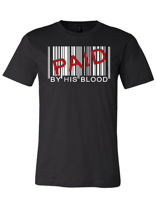Paid By His Blood Barcode Tee