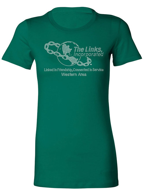 WESTERN AREA Links Logo Tee-Green