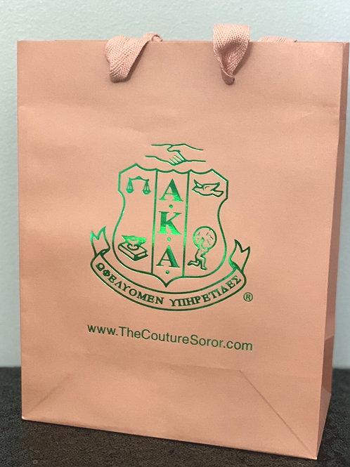 Salmon Pink Gift Bag