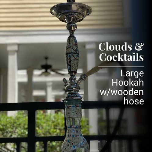 Large Hookah with Wooden Hose