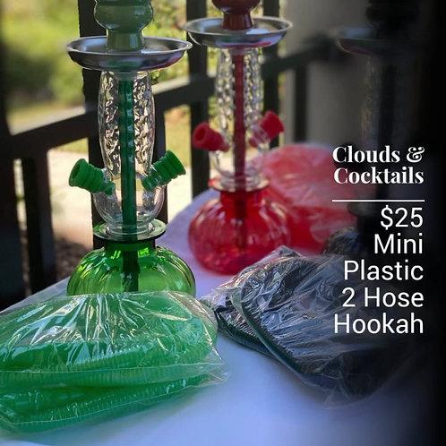 Mini Plastic 2 Hose Hookah