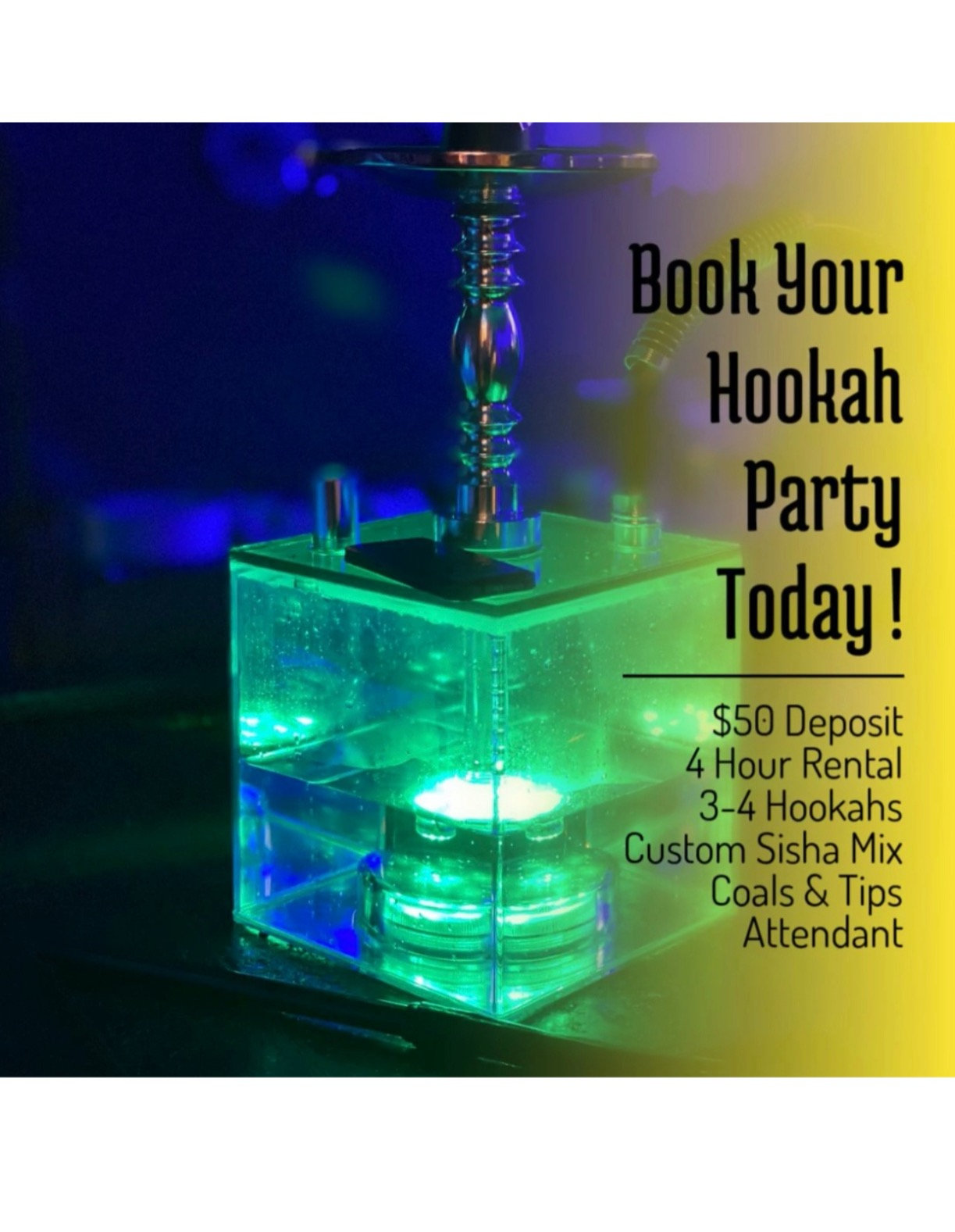 Hookah Party Deposit