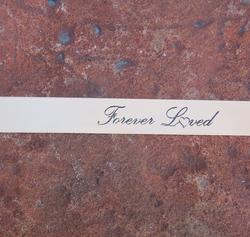 """""""Forever Loved"""" Gold Ribbon"""