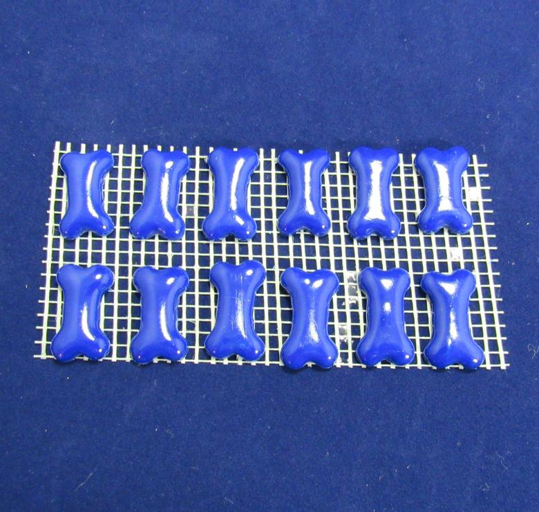 Blue Bone Charms