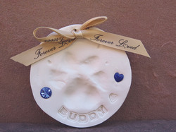 Sapphire Gemstone Charms in clay.