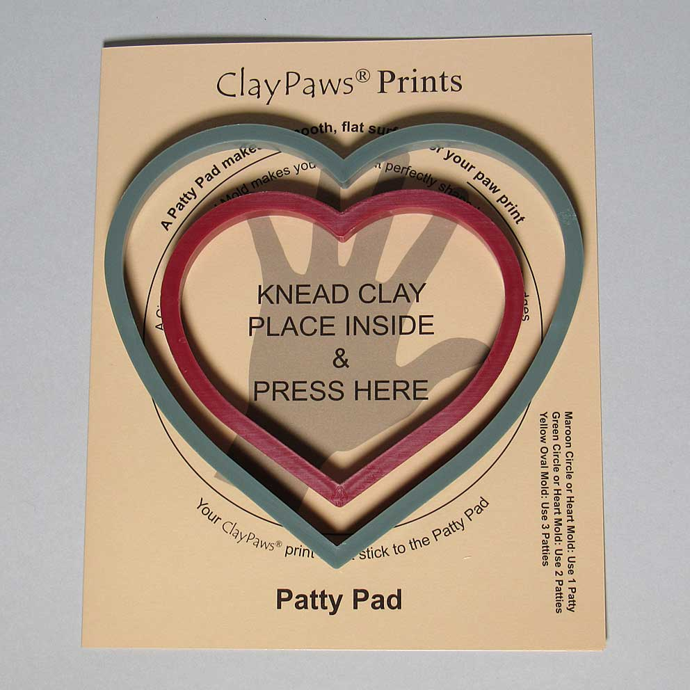 Patty Pad with Heart Molds