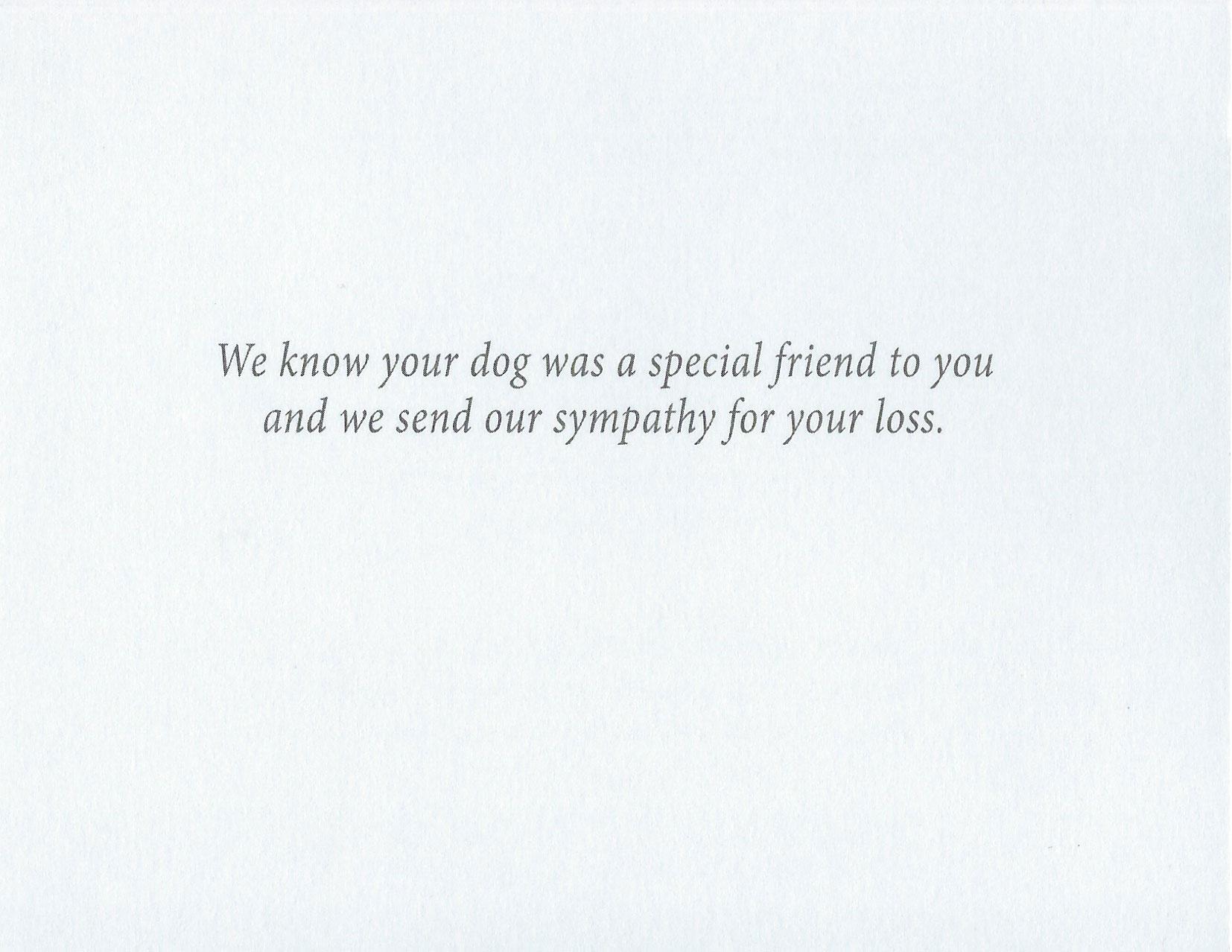 S73 Dog Sympathy Card
