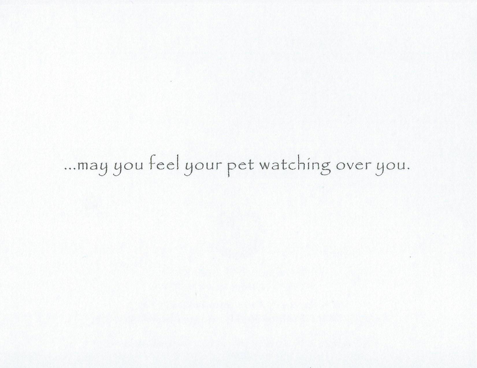S204 Pet Sympathy Card