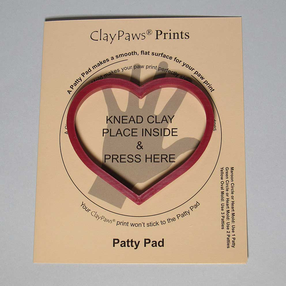 Patty Pad with Maroon Heart Mold