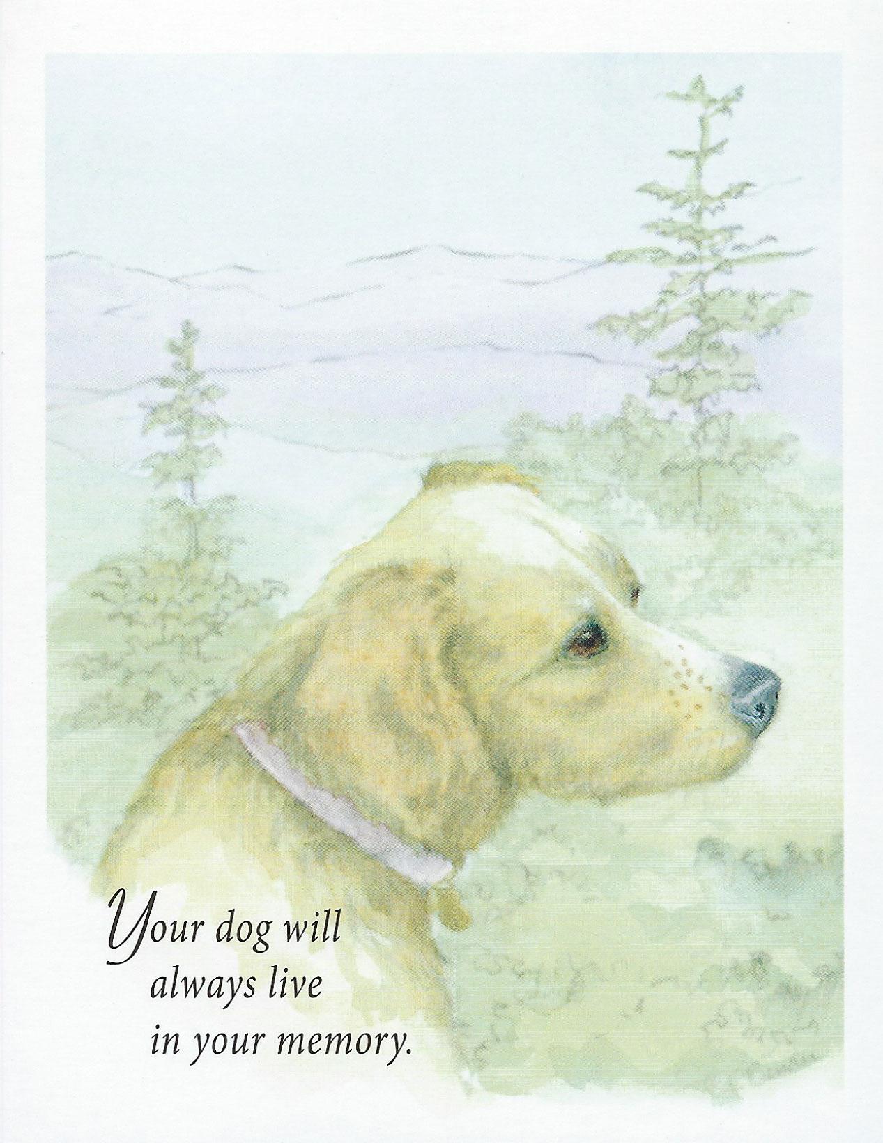 S03 Pet Sympathy Card