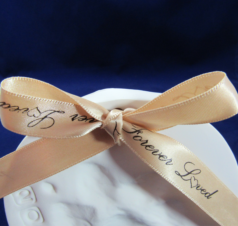 'Forever Loved' Gold Ribbon