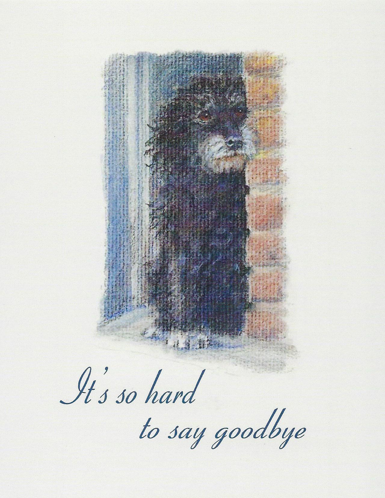 S86 Dog Sympathy Card