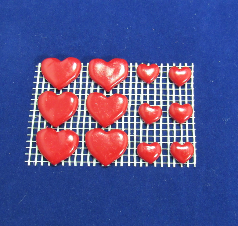 Mixed Size Red Heart Charms