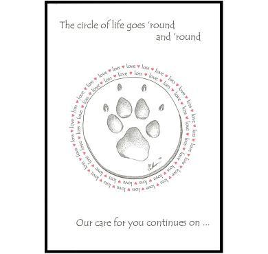 CCLLC Premium Pet Sympathy Card
